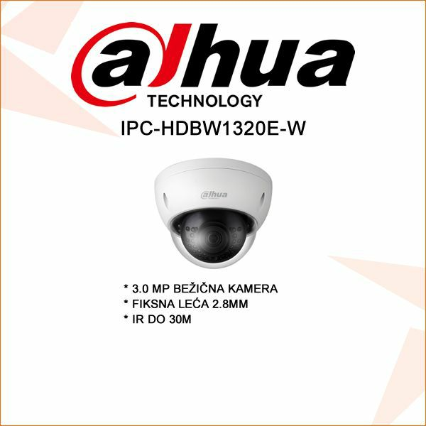 DAHUA BEŽIČNA 3.0MP DOME KAMERA