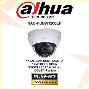 DAHUA CVI DOME KAMERA ZA VIDEONADZOR 2MP HAC-HDBW1200EP