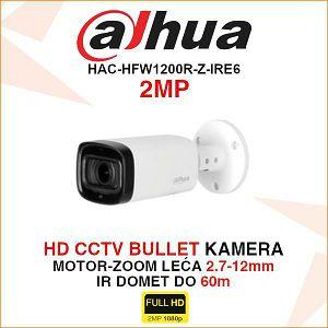 DAHUA CVI MOTOR-ZOOM BULLET KAMERA ZA VIDEONADZOR 2MP HAC-HFW1200R-Z-IRE6