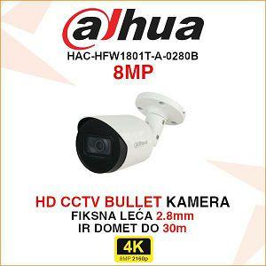 DAHUA HDCVI 8MP BULLET KAMERA HAC-HFW1801T-A-0280B
