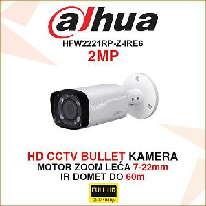 DAHUA HDCVI 2MP BULLET KAMERA HFW2221RP-Z-IRE6