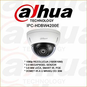 DAHUA2 MP IP DOME KAMERA ZA VIDEO NADZOR
