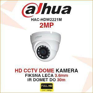 DAHUA KAMERA DOME 2MP 3.6mm HAC-HDW2221M