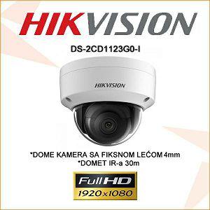 HIKVISION 2MP IP 4mm IR KAMERA ZA VIDEO NADZOR DS-2CD1123G0-I