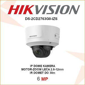 HIKVISION 6MP IP MOTOR ZOOM DOME KAMERA ZA VIDEO NADZOR DS-2CD2763G0-IZS