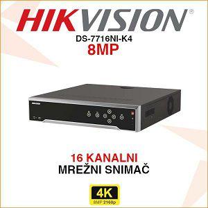 HIKVISION MREŽNI 4K SNIMAČ DS-7716NI-K4