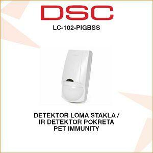 DSC DETEKTOR POKRETA I LOMA STAKLA LC-102-PIGBSS