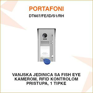 VANJSKA PORTAFONSKA JEDINICA S 1 TIPKOM I RFID KONTROLOM PRISTUPA