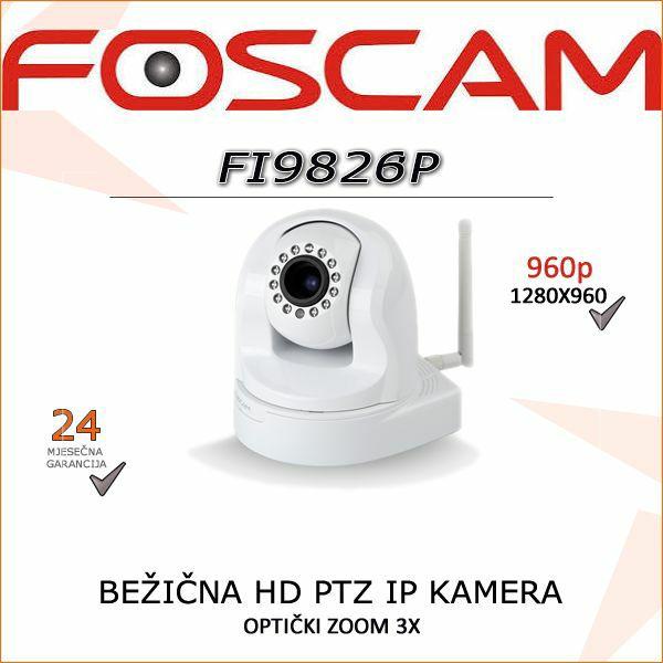 FI9826P- HD BEŽIČNA PTZ 960P KAMERA SA ROTACIJOM I ZUMIRANJEM