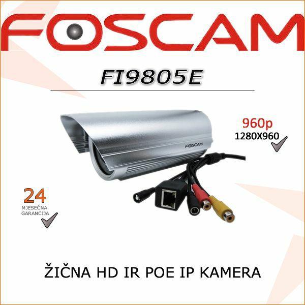 FI9805E-FOSCAM IP POE ŽIČNA KAMERA