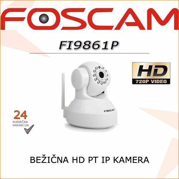 FI9816P- HD BEŽIČNA 720P ROTACIJSKA KAMERA (BIJELA BOJA)