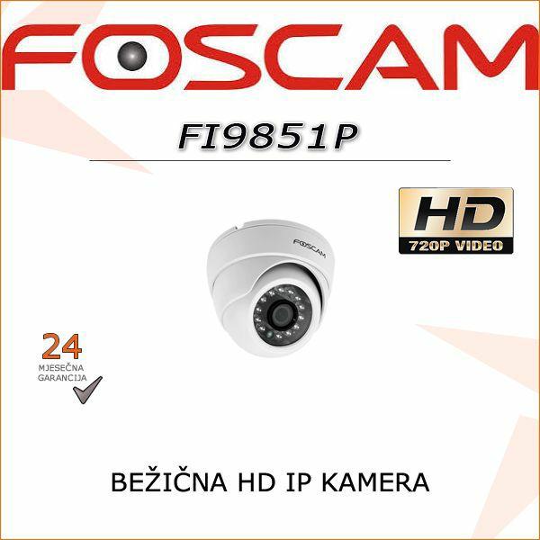 FI9851P - HD BEŽIČNA 720P DOME KAMERA