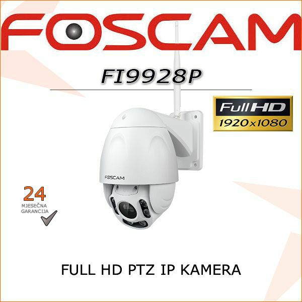 FOSCAM FULL HD BEŽIČNA PTZ IR KAMERA FI9928P