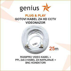 GOTOVI KABEL ZA VIDEONADZOR  PLUG&PLAY 25M