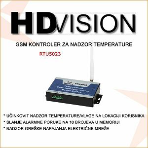 GSM KONTROLER ZA NADZOR TEMPERATURE
