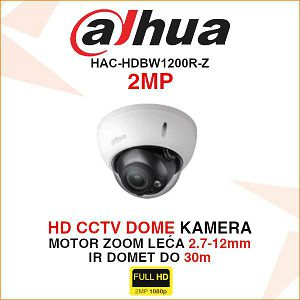DAHUA MOTOR ZOOM KAMERA 2MP HAC-HDBW1200R-Z