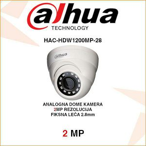 DAHUA CVI 2MP DOME KAMERA ZA VIDEONADZOR HAC-HDW1200MP-28