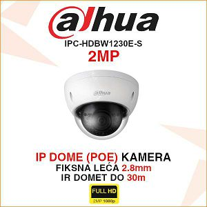 DAHUA 2MP IP POE KAMERA S UTOROM ZA MICRO SD KARTICU IPC-HDBW1230EP-S