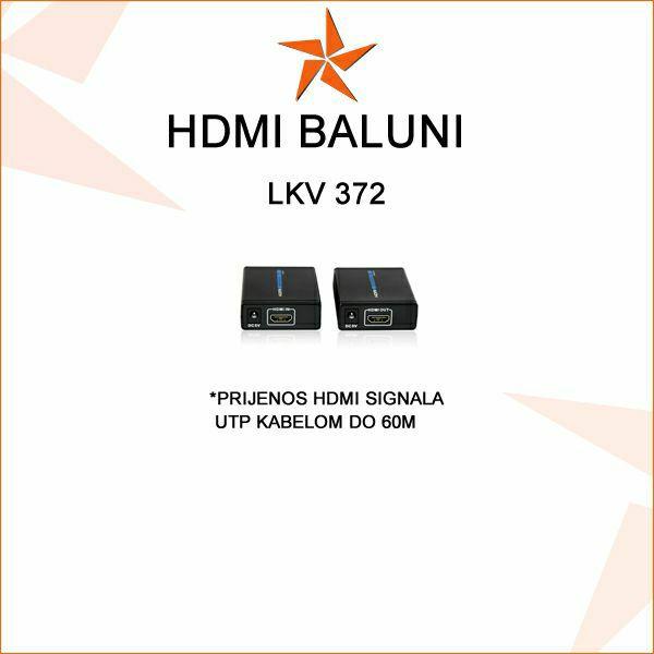 HDMI BALUN- PRIJENOS HDMI SIGNALA UTP KABELOM DO 60M