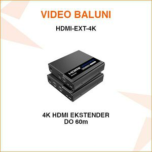 HDMI EKSTENDER ZA PRIJENOS 4K HDMI SIGNALA UTP KABELOM DO 60M