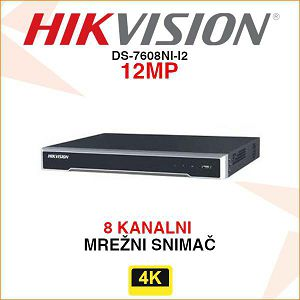 HIKVISION 12MP 8 KANALNI DIGITALNI VIDEO SNIMAČ