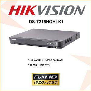 HIKVISION 16 KANALNI  2 MP 1080P SNIMAČ