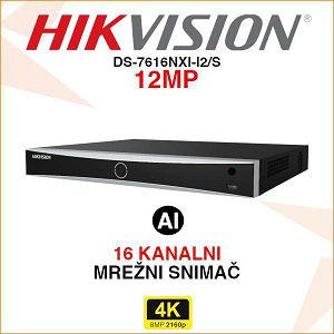 HIKVISION 16 KANALNI ACUSENSE MREŽNI VIDEO SNIMAČ DS-7616NXI-I2/S