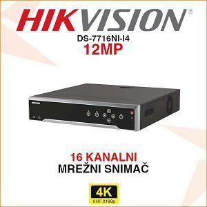 HIKVISION 16 KANALNI MREŽNI IP SNIMAČ DS-7716NI-I4