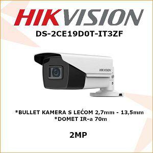 HIKVISION 2MP BULLET KAMERA 2.7mm - 13.5mm