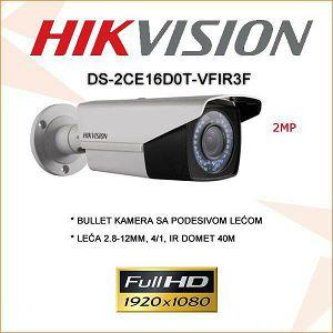 HIKVISION 2MP BULLET KAMERA 2.8-12MM