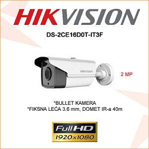 HIKVISION 2MP BULLET KAMERA 3,6mm