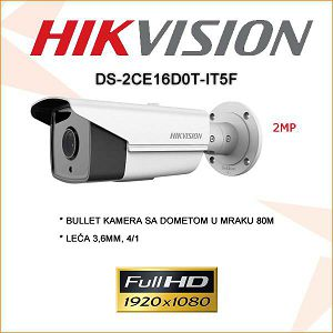 HIKVISION 2MP BULLET KAMERA IR 80M