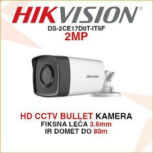 HIKVISION 2MP BULLET KAMERA IR 80M DS-2CE17D0T-IT5F