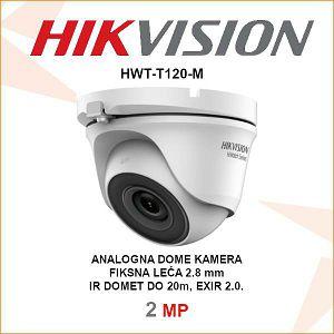 HIKVISION 2MP EXIR DOME 2.8mm KAMERA HWT-T120-M