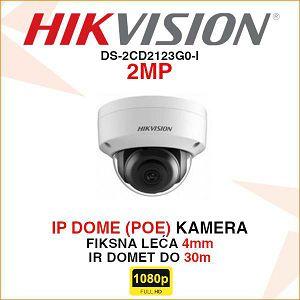 HIKVISION 2MP IP 4mm KAMERA U DOME KUĆIŠTU DS-2CD2123G0-I