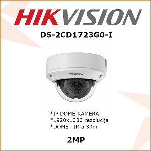 HIKVISION 2MP IP MOTOR ZOOM DOME KAMERA ZA VIDEONADZOR DS-2CD1723G0-I