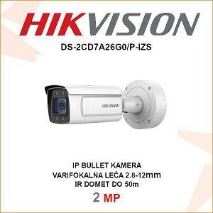 HIKVISION 2MP IP MOTOR-ZOOM KAMERA 2.8-12mm DS-2CD7A26G0/P-IZS