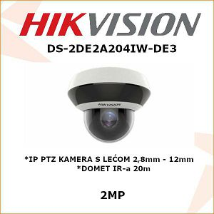 HIKVISION 2MP IP PTZ KAMERA 2,8mm - 12mm