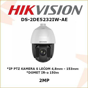 HIKVISION 2MP IP PTZ KAMERA 4,8mm - 153mm