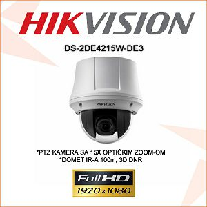 HIKVISION 2MP IP PTZ KAMERA 5mm - 75mm