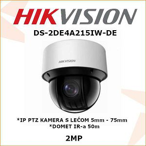 HIKVISION 2MP IP PTZ KAMERA 5mm - 75mm