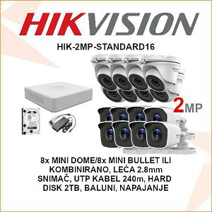 HIKVISION 2MP KOMPLET SA 16 KAMERA PLUG&PLAY