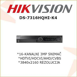 HIKVISION 3MP 16 KANALNI DIGITALNI VIDEO SNIMAČ