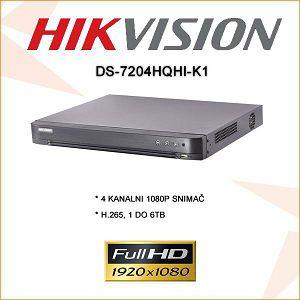 HIKVISION 4 KANALNI 2 MP 1080P SNIMAČ
