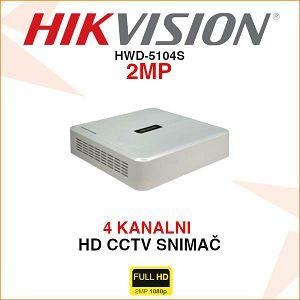HIKVISION 4 KANALNI TURBO HD 1080P SNIMAČ HWD-5104S