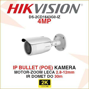 HIKVISION 4 MP EXIR BULLET IP KAMERA DS-2CD1643G0-IZ