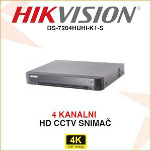 HIKVISION 4K DIGITALNI VIDEO SNIMAČ DS-7204HUHI-K1-S
