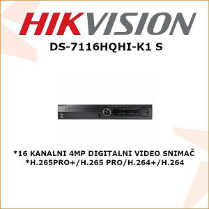HIKVISION 4MP 16 KANALNI DIGITALNI VIDEO SNIMAČ