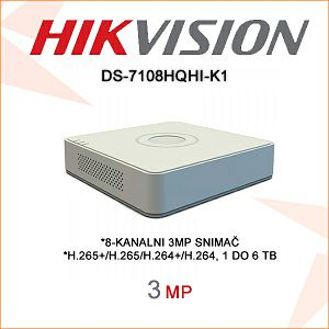 HIKVISION 4MP 8 KANALNI DIGITALNI VIDEO SNIMAČ