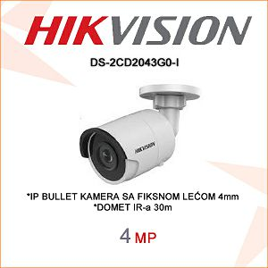 HIKVISION 4MP IP BULLET KAMERA 4mm